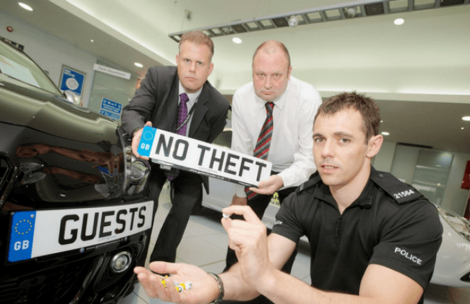 Anti Theft Number Plates