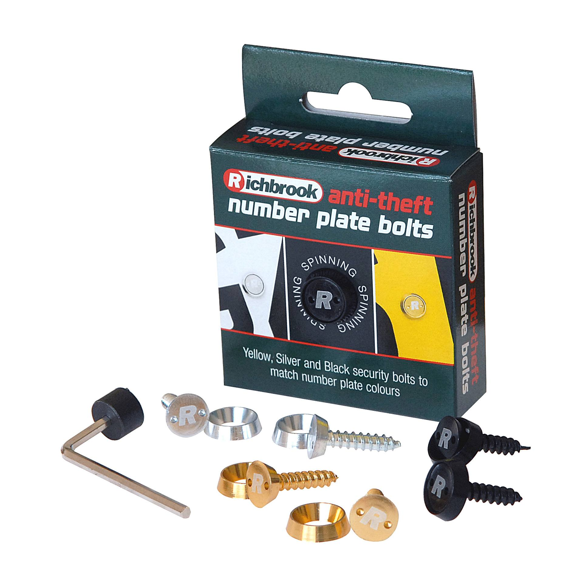 ANTI THEFT Number Plate Bolts